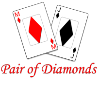 Pair of Diamonds Logo